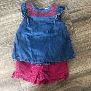 OshKosh B'Gosh girls outfit 2T